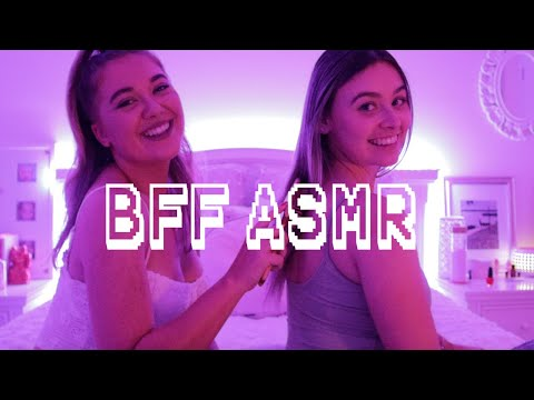 Giving my Best Friend ASMR with Simply Kel // Back Tracing, Brushing & Hair Play