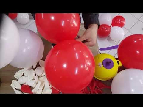 Balon süsleme zincir balon yapılısı Balloon Ornament Chain Balloon Structure