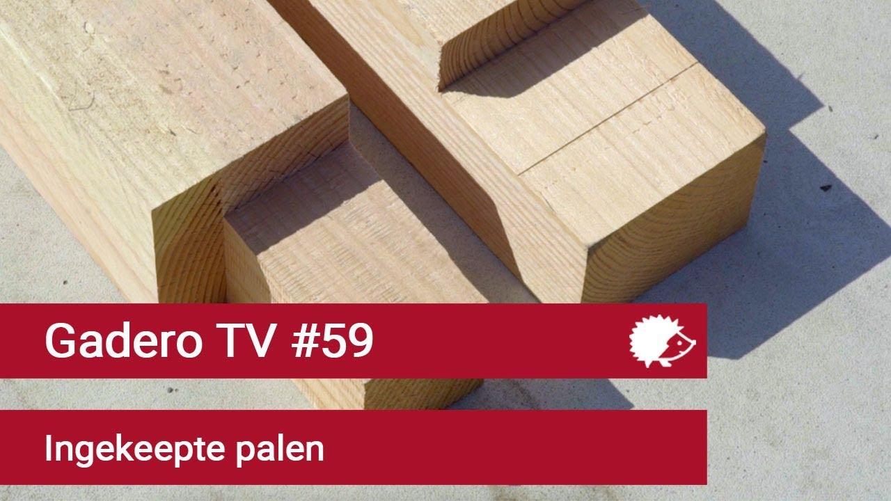 59 Kant En Klare Houten Palen Met Inkeping