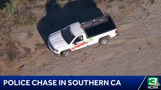 Guy blows his head off to end a high speed chase SoCal