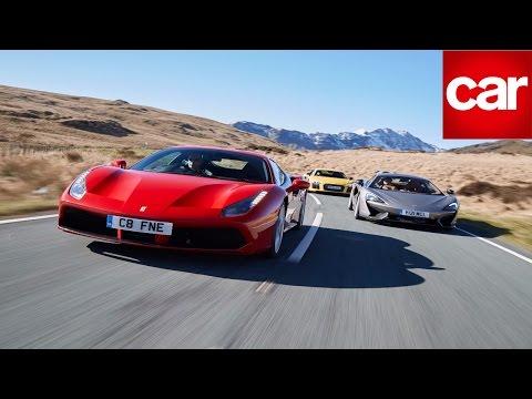 Ferrari 488 GTB vs McLaren 570S vs Audi R8 V10 Plus: CAR magazine