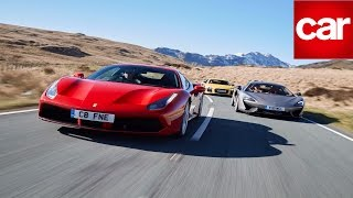 Ferrari 488 GTB vs McLaren 570S vs Audi R8 V10 Plus: CAR magazine's supercar triple test