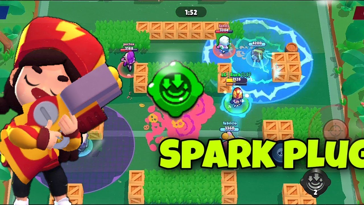 TRYING OUT JESSIE'S GADGET: SPARK PLUG | Ruch - Brawl Stars - YouTube