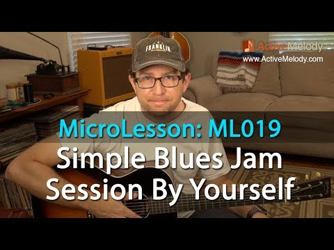 Simple Way To Jam With 3 Chords By Yourself (Rhythm and Lead) Minor Blues Guitar Lesson - ML019