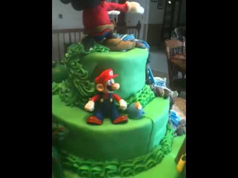 Super Smash Brothers Themed Cake Youtube