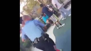 Black Guy Runs away from cop!!
