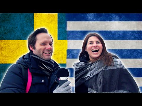 Swede tries to speak Greek, Greek tries to speak Swedish - Language challenge