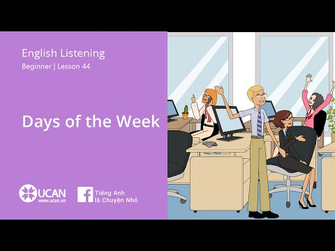 Learn English Via Listening | Beginner: Lesson 44. Days of the Week