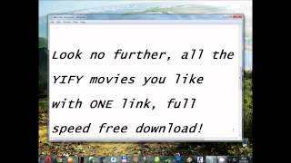 YIFY 720p Movies, one link, full speed FREE download!