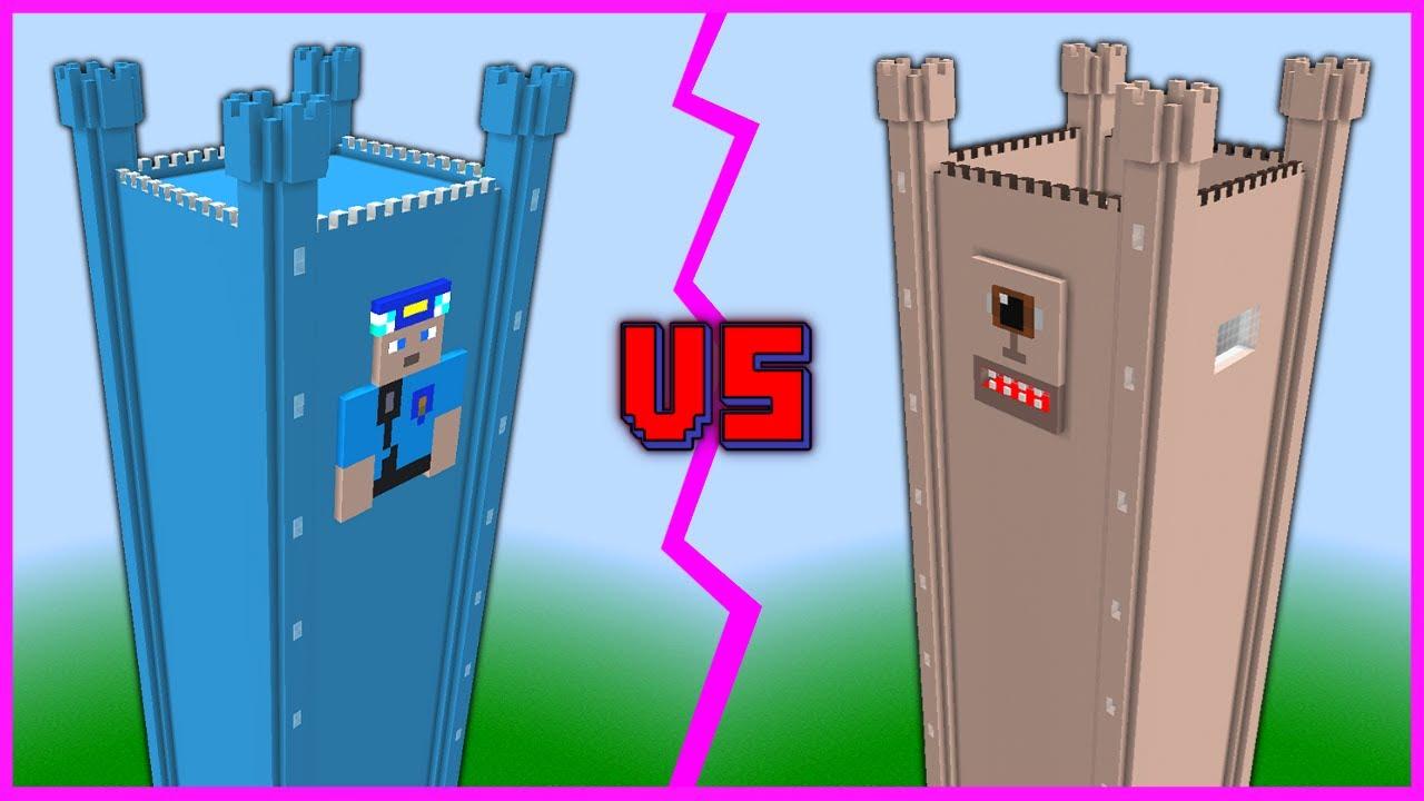 KEREM KOMİSER KULE VS TEPEGÔZ KULE! 😱 - Minecraft