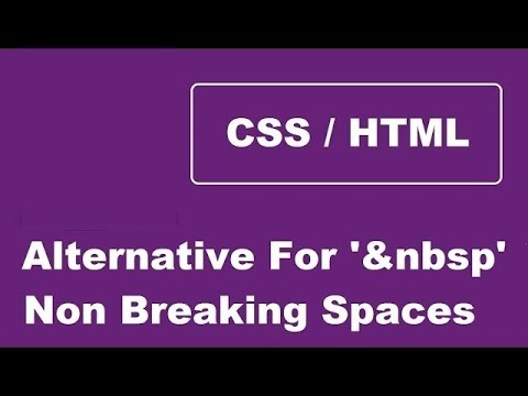 Give Tab Space Instead Of Multiple Non Breaking Spaces - nbsp