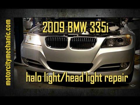 2009 BMW 335i left front halo / angle eye not working