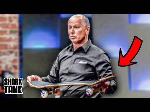 Old Man Tries To Sell Skateboard On Shark Tank...