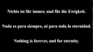 Unheilig - Für immer (Lyrics - Letra - Songtext - Testo - Sångtext)