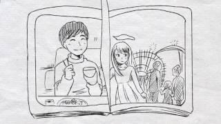 結婚式の余興をパラパラ漫画に!ゲストも楽しめる二人の思い出を再現!