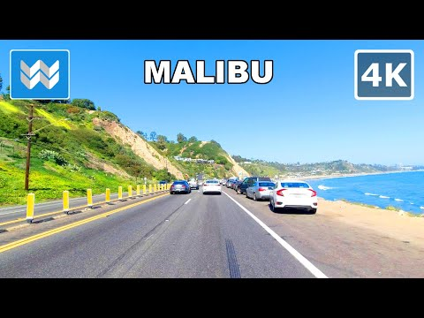 【4K】 Scenic Drive: Malibu - Santa Monica - Venice Beach via Pacific Coast Highway Calfiornia 1