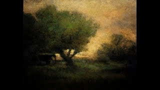 George Inness In the Gloaming 8x10 Tonalist Landscape Oil Painting