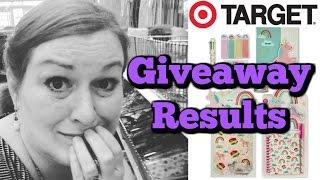 Results - Target Dollar Spot Haul & Giveaway - Scrapbook, Journaling, Planner Love