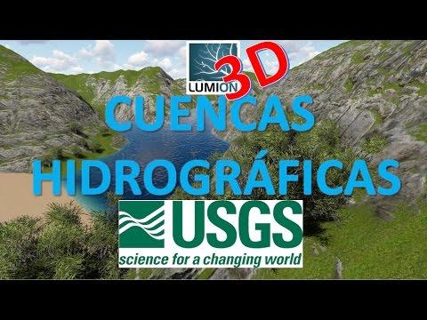 Lumion 3D - Modelado de cuencas hidrograficas USGS