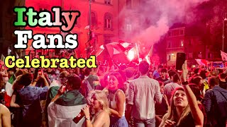 Euro 2020 finals ?? Italy fans celebrated after the match [4k HDR] Rome