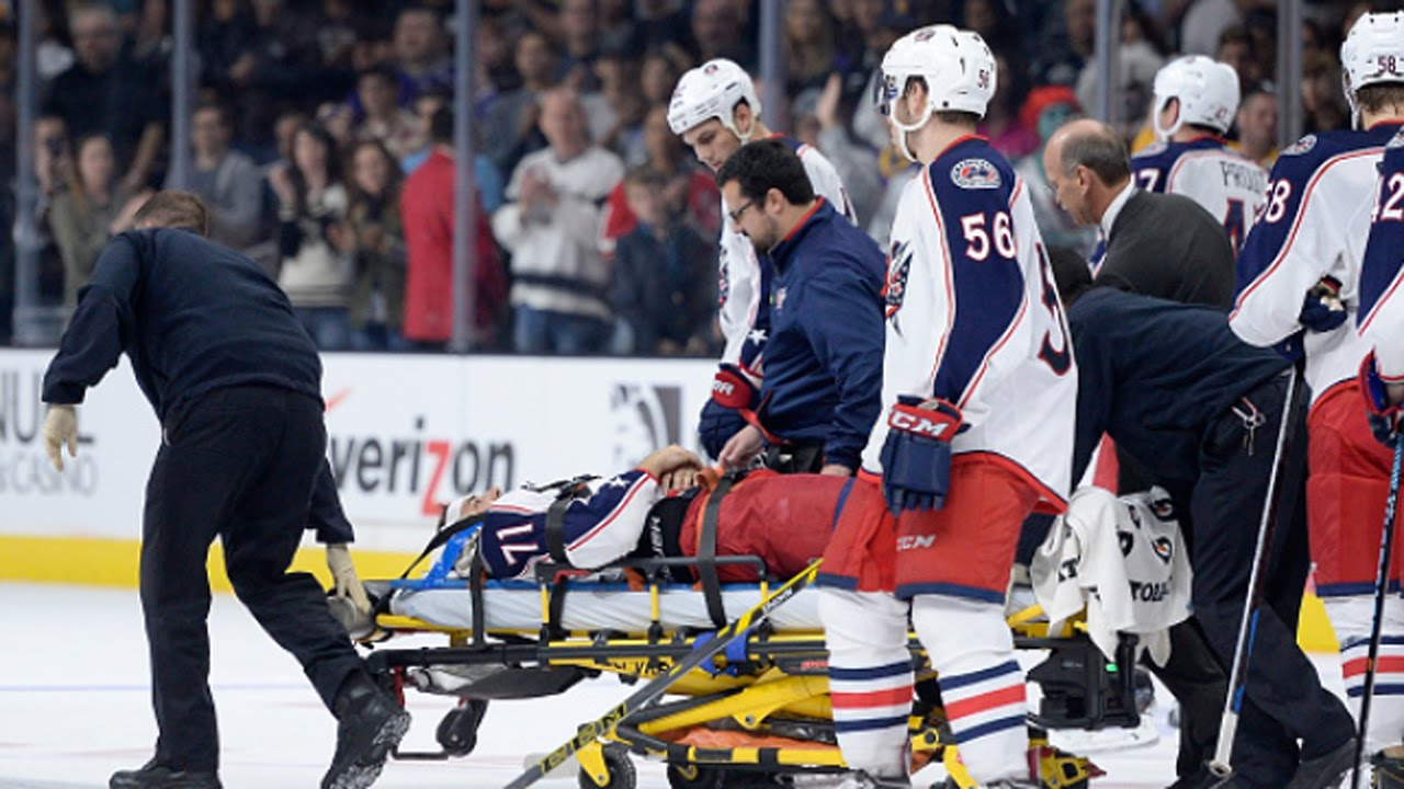 Columbus Blue Jackets forward Nick Foligno suffers injury - YouTube