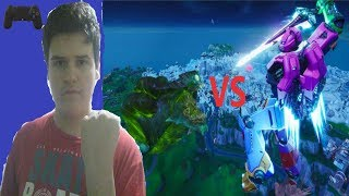 Fortnite el EVENTO FINAL de la temporada 9 el Robot vs el monstruo icerberg