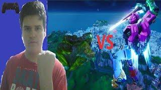 Fortnite el EVENTO FINAL de la temporada 9 el Robot vs el monstruo icerberg