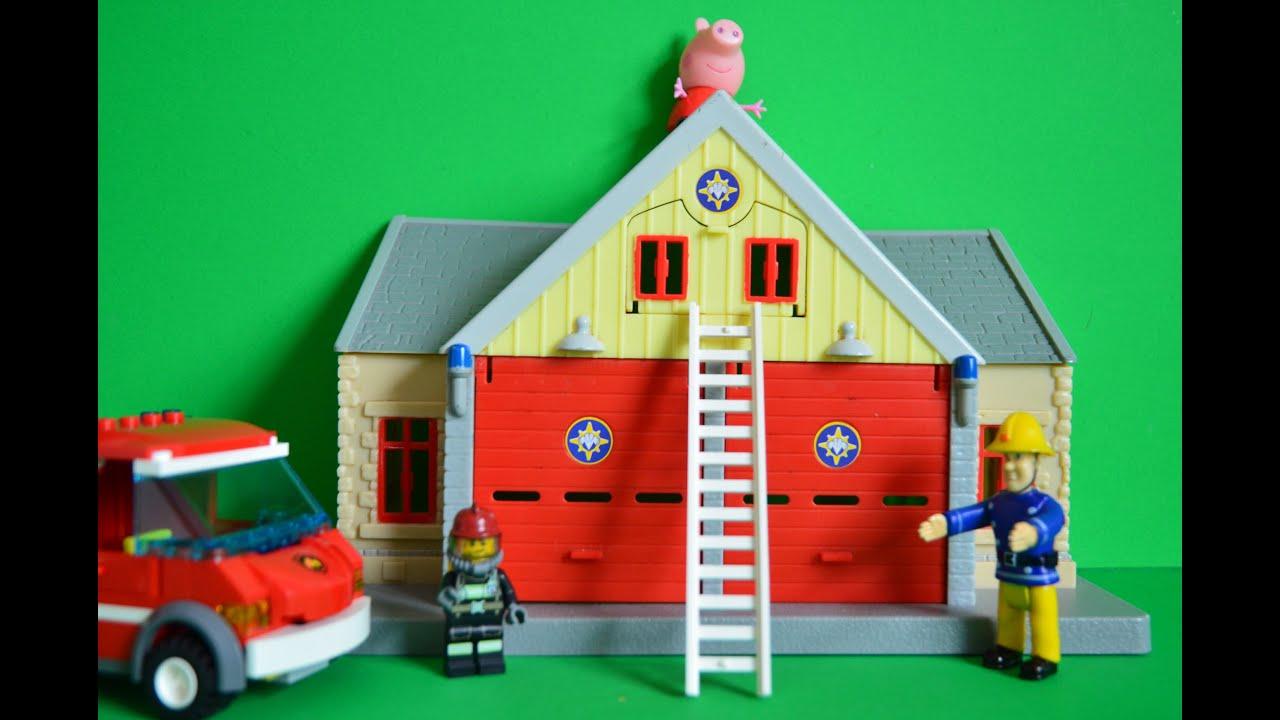Peppa Pig English Episode Rescue Fireman Sam Fire Station