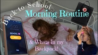 Back to School Morning Routine & What's in my Backpack!