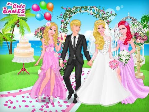 принцессы диснея свадьба барби Princess Disney Barbie Wedding