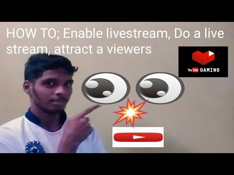 How to enable live stream option in youtube