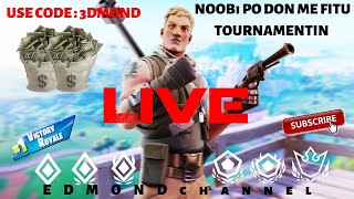 NOOBi PO DON ME FITU TOURNAMENTIN !!! FORTNITE SHQIP (USE CODE : 3DMOND)🔴 LIVE 🔴