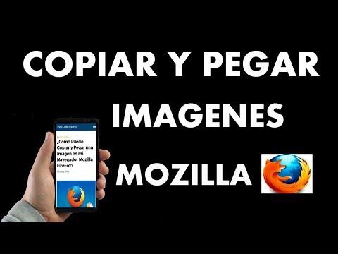¿Cómo Puedo Copiar y Pegar una Imagen en Mozilla FireFox?