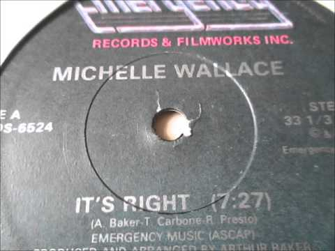 """Michelle Wallace  - Its Right. 1982  (12"""" Soul/Funk)"""