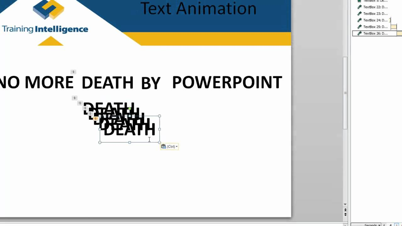 how to add effects to text in powerpoint