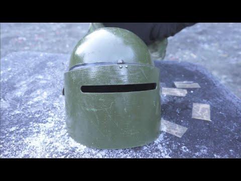 MASKA Russian Helmet ballistic test - Spetsnaz Steel for hard times