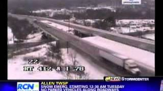 wfmz 69 news at noon winter weather coverage 2 1 11