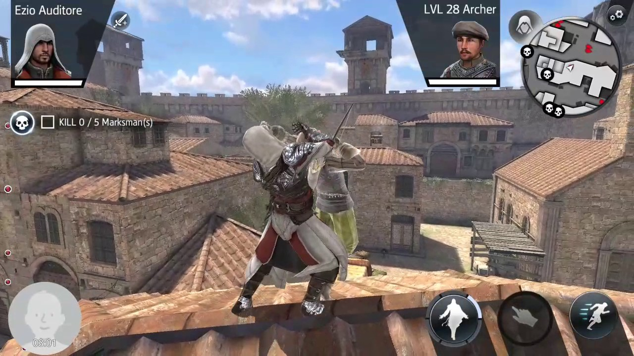 Assassin's Creed Identity, playing as Ezio Auditore ...