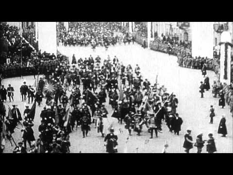 Coronation of Emperor Karl IV (Charles IV) of Austria-Hungary HD Stock Footage