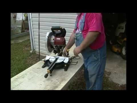"PawPaw Reviews and Demonstrates the Harbor Freight 10"" Compound Miter Saw #61971"