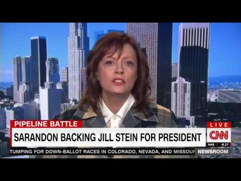 "11/04/16 Susan Sarandon smashes CNN  ""The DNC Is ""Completely Corrupt'"""