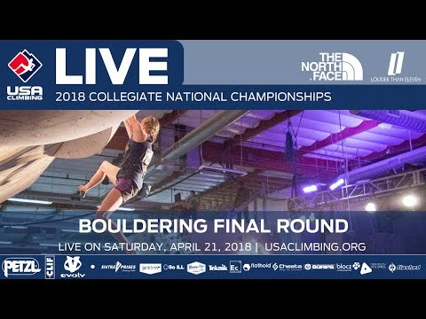 Final Round • 2018 Collegiate Bouldering National Championships • 4/21/18 8:00 PM