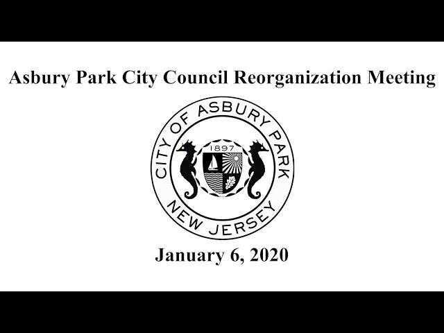Asbury Park City Council Reorganization Meeting - January 6, 2020