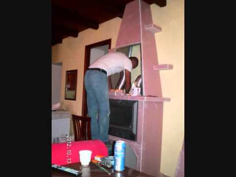 Costruire un caminetto con il cartongesso - Building a fireplace with ...