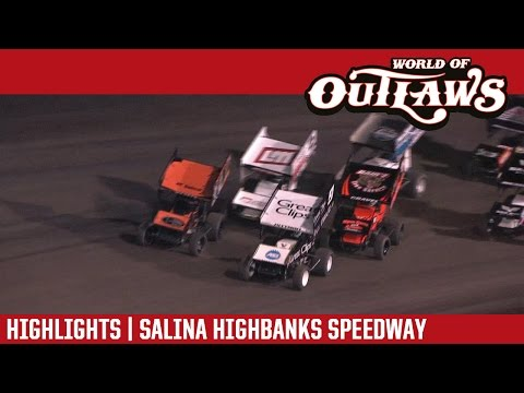World of Outlaws Craftsman Sprint Cars Salina Highbanks Speedway October 22nd, 2016 | HIGHLIGHTS