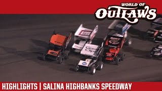 World of Outlaws Craftsman Sprint Cars Salina Highbanks Speedway Highlights