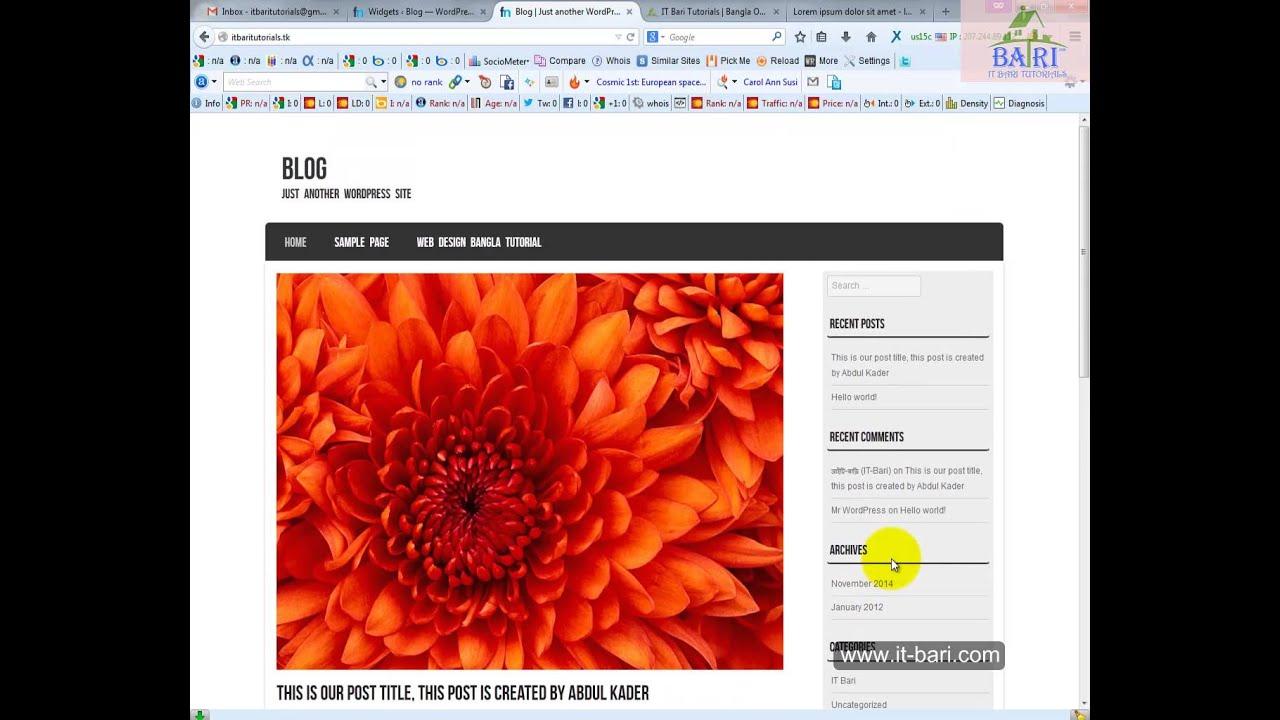 how to make website and hosting bangla how to make website and hosting bangla tutorial part 10