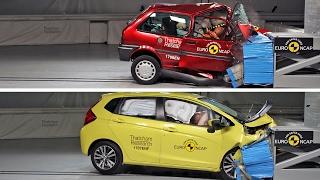 Crash Tests of 2 Cars Built 20 Years Apart