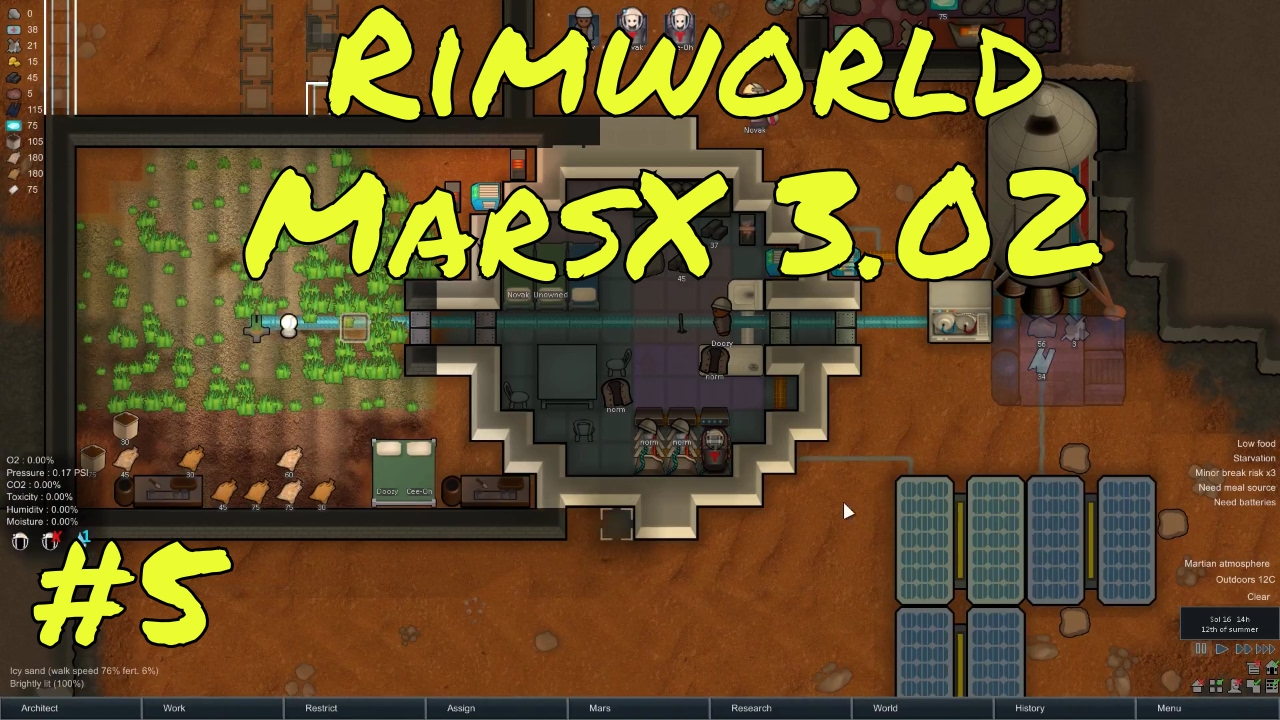 Rimworld Marsx New update 3 02 - Food problems - Rimworld mars mod gameplay