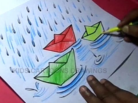 How to Draw Rainy Season Drawing